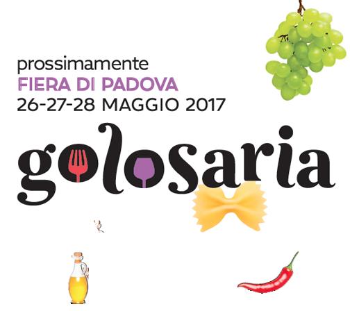 Vieni a trovarci a <b>Golosaria</b> dal 26 al 28 Maggio a PadovaFiere